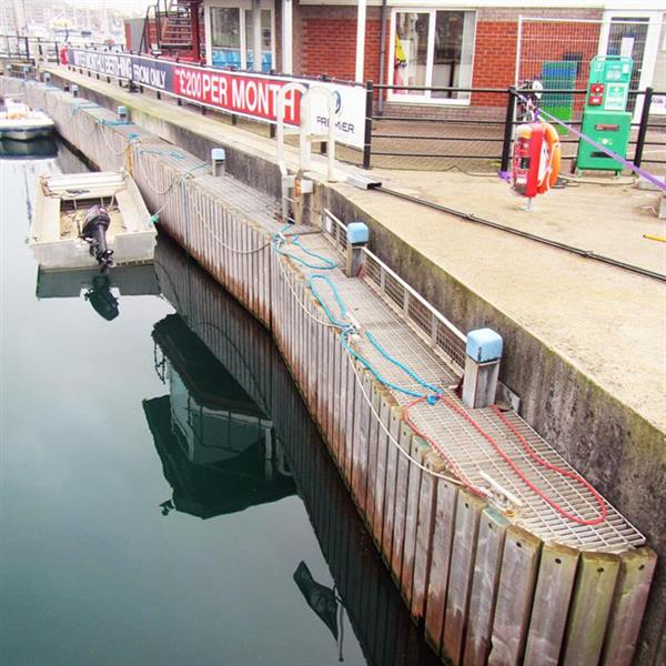 Twin lock pontoons for busy marina